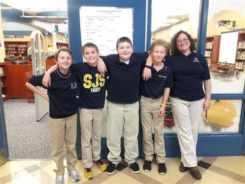 Sixth Grade Quick Recall Team and Mrs. Swink