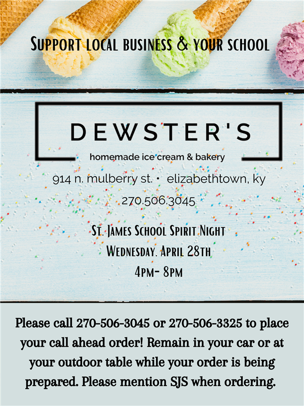 School Spirit Night at Dewster's